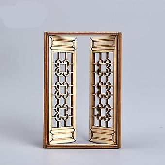 Dollhouse Mini -wooden Movable Assembly Window Building Model