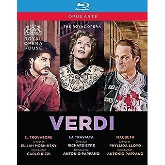Verdi: Il Trovatore / La Traviata / Macbeth [Blu-ray] USA import