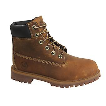 حراس الأرض تيمبرلاند 6 بوصة جونيور الدانتيل حتى الأحذية الجلدية براون 80904 Z26A /B