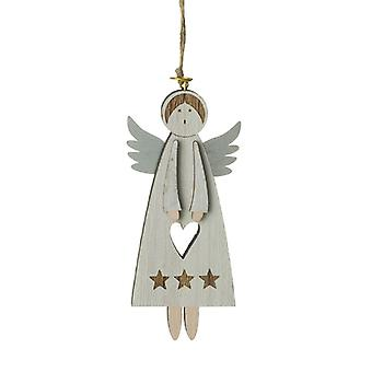 Hanging Wooden Angel Decoration
