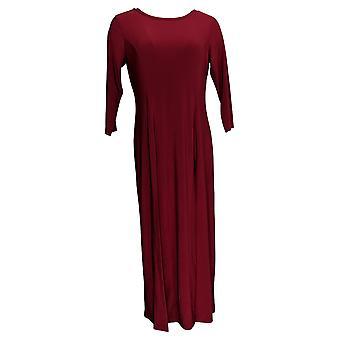 Atitudes por Renee Women's Petite Top Como Jersey Duster Red A383319