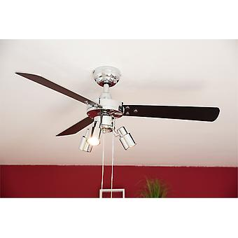 Ceiling fan Cyrus Chrome with lights 107cm / 42""