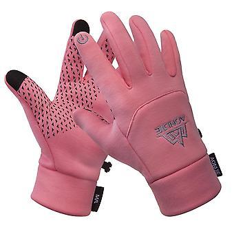 Guanti in pile touchscreen termico invernale uomo-donna, guanti antivento