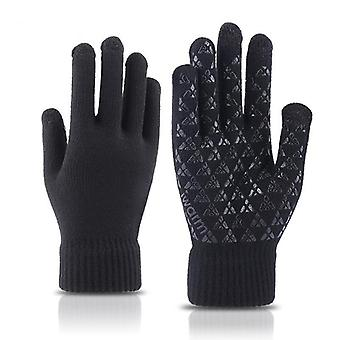 Thermal Winter Touch Screen Gloves Men Women Anti slip Grip Elastic Cuff Warm Lining Stretchy Material