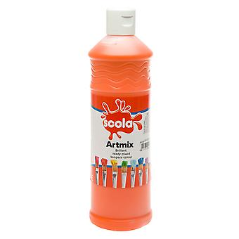 Scola AM600/22 Artmix Ready-mix Paint 600ml - Orange