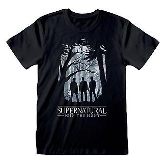 Supernatural Unisex Adult Silhouette T-Shirt