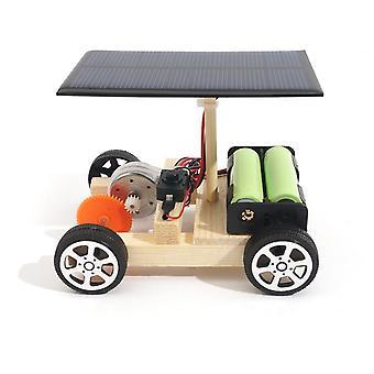 डीवाई सोलर हाइब्रिड इलेक्ट्रिक कार वुडन असेंबली साइंस मॉडल रिचार्जेबल बैटरी के साथ