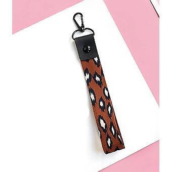 Leopard Print Phone Holder Key Lanyard