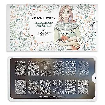 MoYou London Nail Art Image Plate - Enchanted 16 (78738)