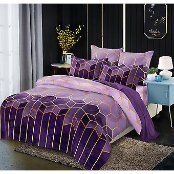 Luxury Duvet Cover Set, Fashion Geometry Series Bedding Sets - B