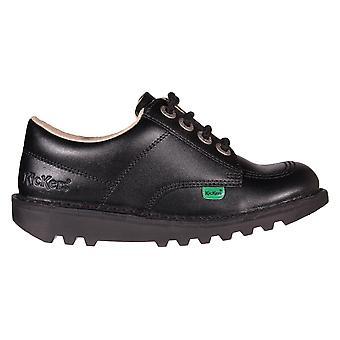 Kickers Kick Lo nahka tyttöjen koulun kenkä Boot musta