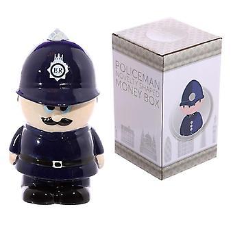 Boîte d'argent de policier en céramique de nouveauté