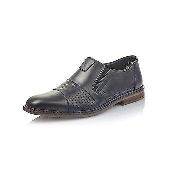 Rieker B1765-00 Jason Mens Smart-casual Leather Slip On Shoe In Black