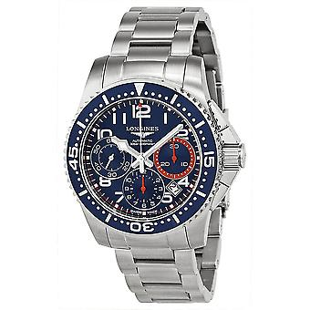 Longines Hydro Conquest Blue and Orange Dial Blue Bezel Stainless Steel Men's Watch L36964036