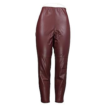 Lisa Rinna Collection Faux Leather Leggings Red A344803