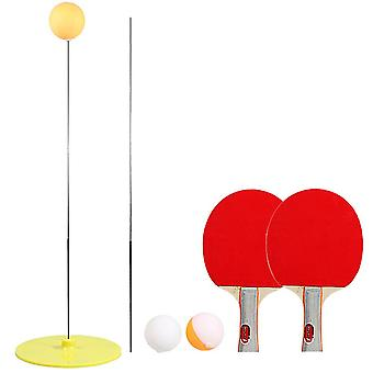 Ping pong rackets and balls table tennis trainer base training practice set