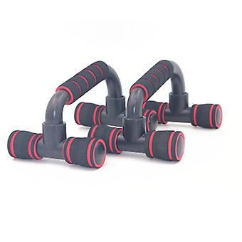 Support push-up en forme de I Indoor Fitness Machine Chest Training Foam Push-up Rack