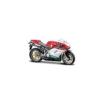 Maisto Motorcykel 1:18 Ducati 1098S Rödvit & Grön