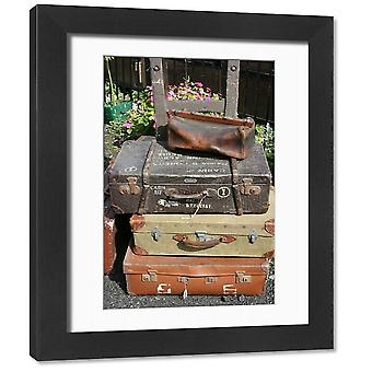 Wallingford station, Cholsey and Wallingford Railway, Oxfordshire, UK. Framed Photo. Antique.