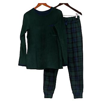 kos duds kvinner 's høy TXS fleecewear stretch pyjamas sett grønn a387657