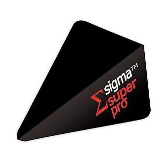 Unicorn Darts Sigma. 100 Super Pro vorm micron Dart vlucht-zwart