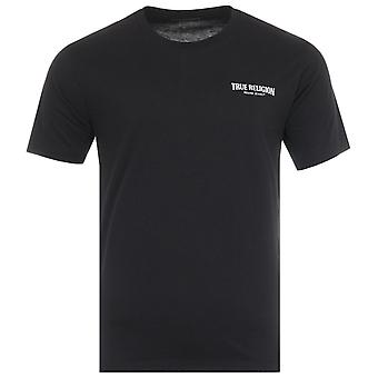 True Religion Small Arch Logo Crew Neck T-Shirt - Black