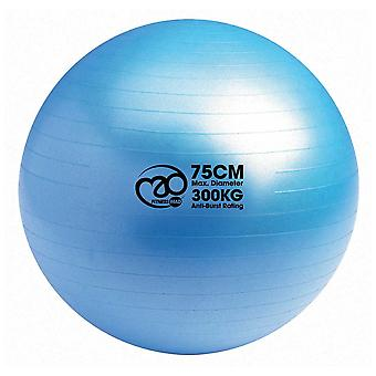 Fitness mad 75cm blue anti-burst ball 300kg perfect for fit ball workouts, yoga,