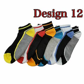 6 Pairs Trainer Cotton Ankle Liner Socks