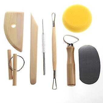 8 Piece set of clay ceramics and pottery molding tools
