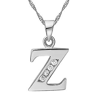 Necklace with pendant in the shape of a letter of the alphabet, for men and women. and base metal, color: Letter Z in silver., cod. Ref. 4058433105331