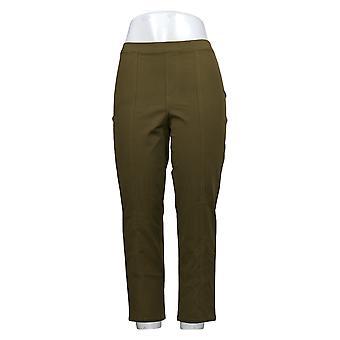 Isaac Mizrahi En direct! Petit pantalon pour femmes Stretch Ankle w/ Seam Green A274551