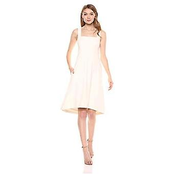 Lark & Ro Women's Sleeveless Sweetheart Fit and Flare Dress with Pockets, Winter White, 0