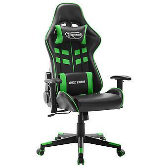 vidaXL Gaming Chair Zwart en Groen Kunstleer