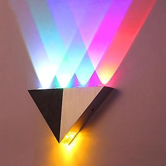 Led lámpara de pared de aluminio cuerpo triángulo luz de pared