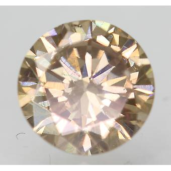 Cert 0.64 Ct Fancy Brown VVS2 Round Brilliant Enhanced Natural Diamond 5.49m 3VG
