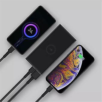 Zmi 18w 10000mah mfi belysning input usb pd hurtig opladning trådløs oplader power bank til iPhone xs 11pro huawei p30 pro p40 5g mi10 5g