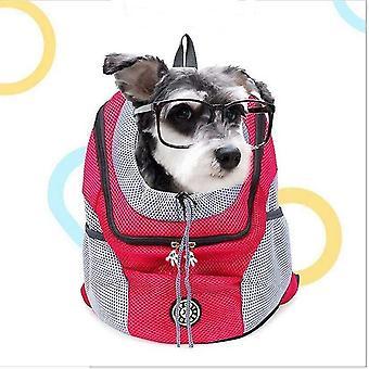 Saco de cachorro de mochila de transporte ao ar livre para cães pequenos grandes 20(30x34x16cm)