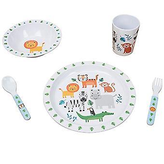 Jungle Baby 5 Piece Melamine Breakfast Set