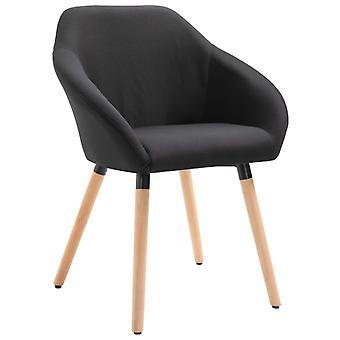 vidaXL Dining Chair Black Fabric