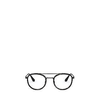 Prada PR 66XV stripete grå / svarte mannlige briller