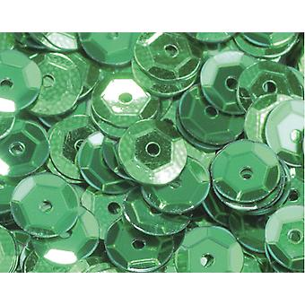 6mm Green Holographic Round Cupped Sequins - 4000pk