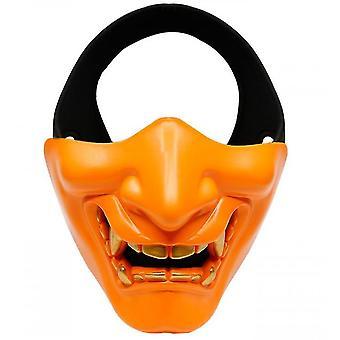 Devil Horror Grimace Adult Half Face Mask(Orange)