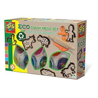 Eco Modelling Dough Mega Set voor kinderen met gereedschap, 7x potten 90g