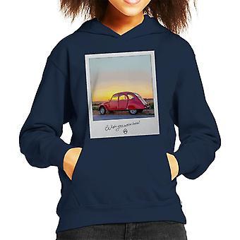 Citroen 2CV Önskar att du var här Foto Kid's Hooded Sweatshirt