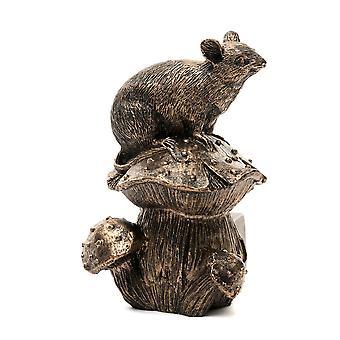 Potty Feet Mouse på svamp tema växt pot fötter - brons färg - uppsättning av 3