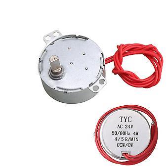 Elektriske motorer ac24v 4-5rpm platespiller synkronmotor 6kgf.cm dreiemoment klimaanlegg