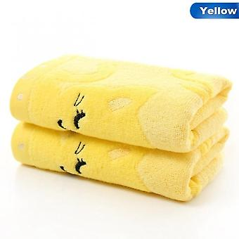 High Quality Non-twisted Bamboo Fiber Music Cat Baby Wash Towels Spa Facial Bath Towel