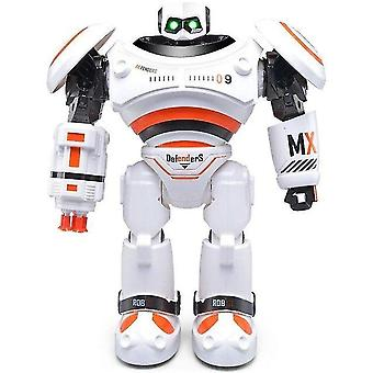 الروبوت AD ملفات الشرطة الروبوت لعبة التحكم عن بعد للأطفال|toys ل|rc robottoys للأطفال (البرتقالي)