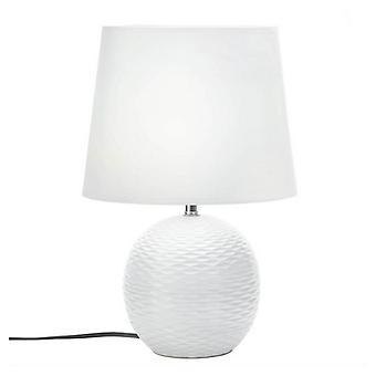 Galleri av lys keramisk sfære dimpled bordlampe, pakke med 1