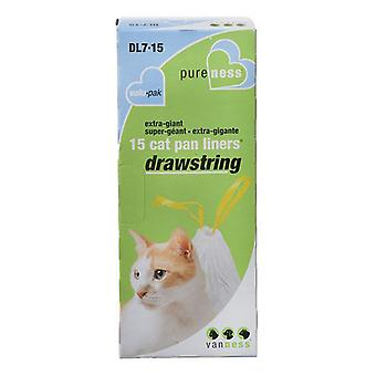 Van Ness Drawstring Cat Pan Liners - X-Giant (15 Pack)